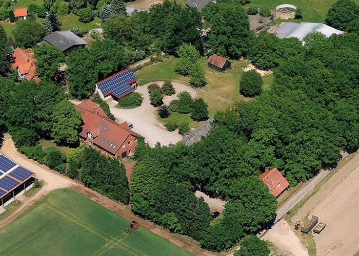 Luftaufnahme Rollrasen Rasenhof Bienenbüttel